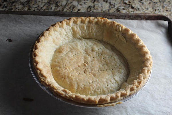 Prepare pie crust (homemade or frozen, your choice) and bake.