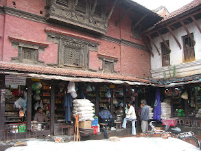 Photo: just before entering Durbar Sq. in Patan