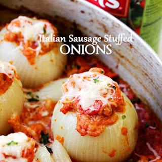 Italian Sausage Stuffed Onions
