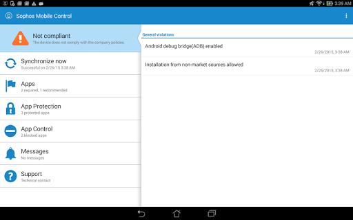 Sophos LG Plugin screenshot 4