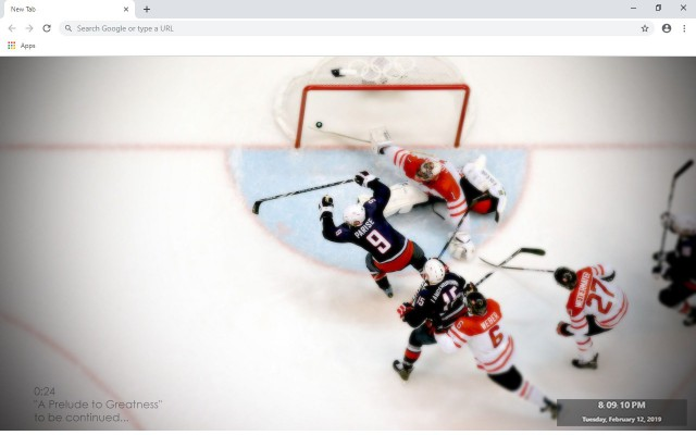 Ice Hockey New Tab & Wallpapers Collection