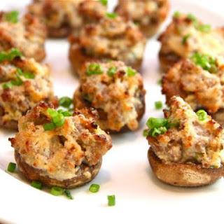 Sausage Stuffed Mushrooms.