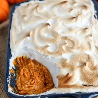 "Vegan Sweet Potato Casserole with Aquafaba ""Marshmallow"" Topping"