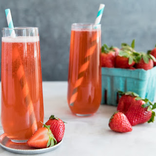 Strawberry Sparkling Wine Cocktail Recipes.