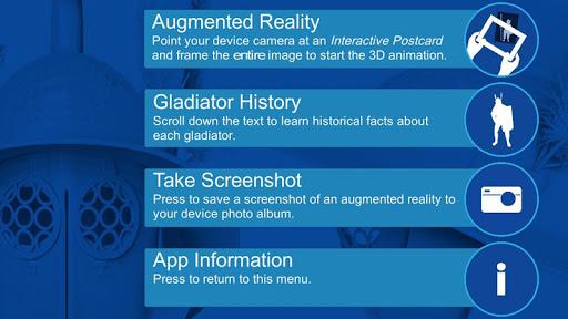 Gladiator Interactive Postcard