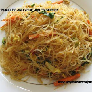 Noodles and Vegetables Stir Fry