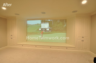 Photo: Basement Screen's Cabinetry Surround Job: CC Newtown, PA