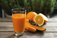 Papaya Banana Orange Smoothie