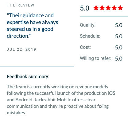 "5 star review by Heart Rate Social - ""Their guidance and expertise have always steered us in a good direction."""