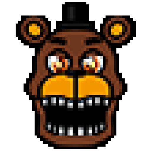 Pixel art Coloring by numbers for Fnaf 1.03