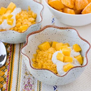 3-Ingredient Creamy Mango Coconut Granita {Grain-Free, Dairy-Free, Refined-Sugar-Free}.