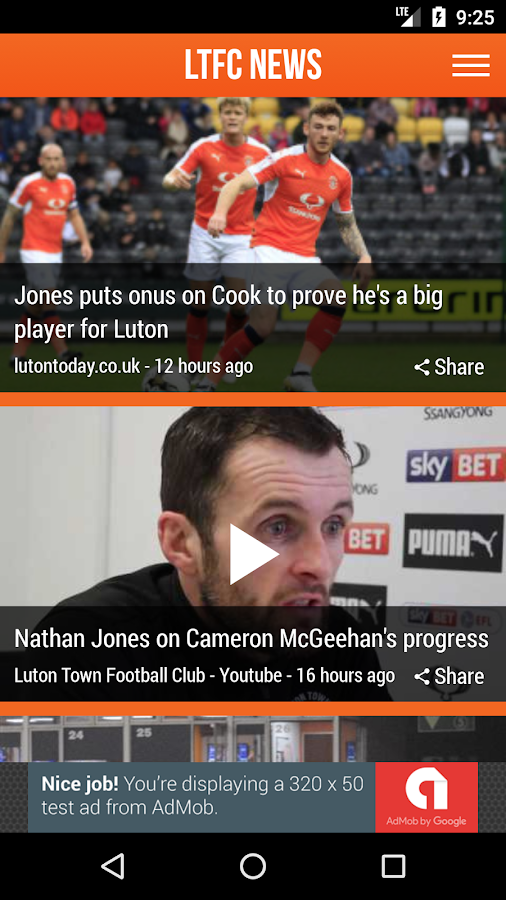 LTFC News - Fan App- screenshot