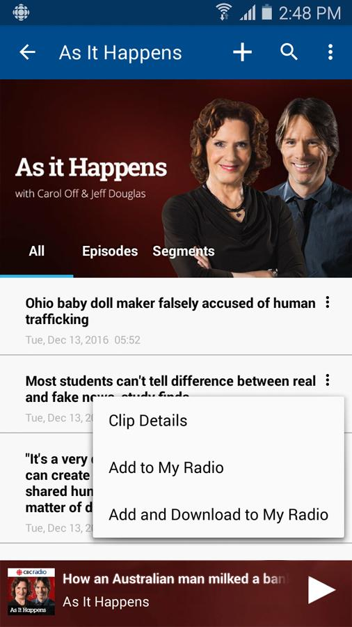 CBC Radio- screenshot