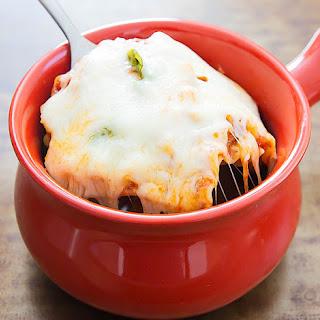 One Bowl Microwave Lasagna