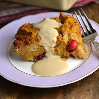 Pumpkin-Cranberry Bread Pudding.