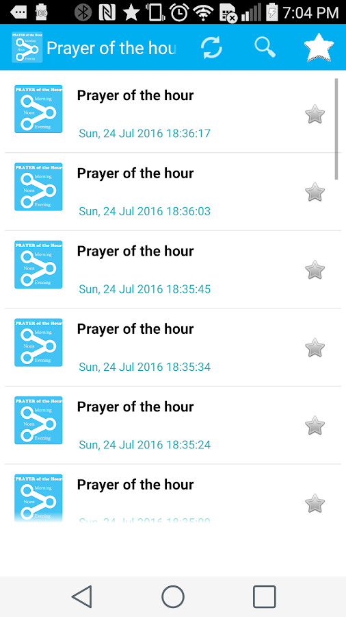 Morning, Noon & Evening Prayer- screenshot