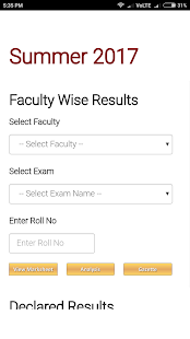 RTMNU Results App - náhled