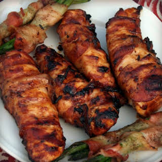 Bacon Wrapped BBQ Chicken.
