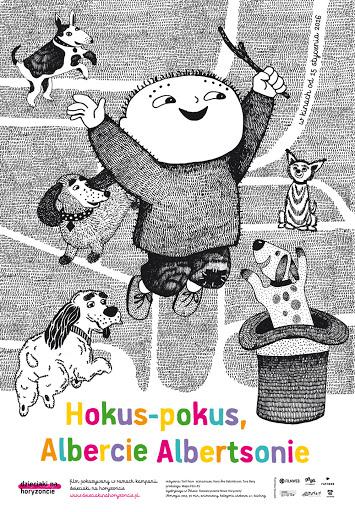 Polski plakat filmu 'Hokus-Pokus, Albercie Albertsonie'
