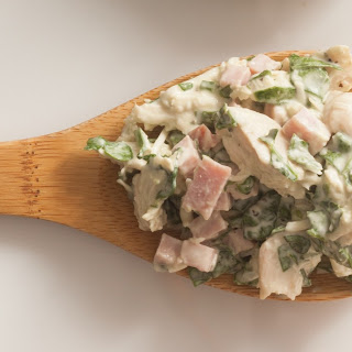 Chicken Salad with Ham, Spinach and Parmesan