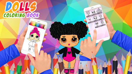 Dolls Coloring Book Pages For Girls APK screenshot thumbnail 2
