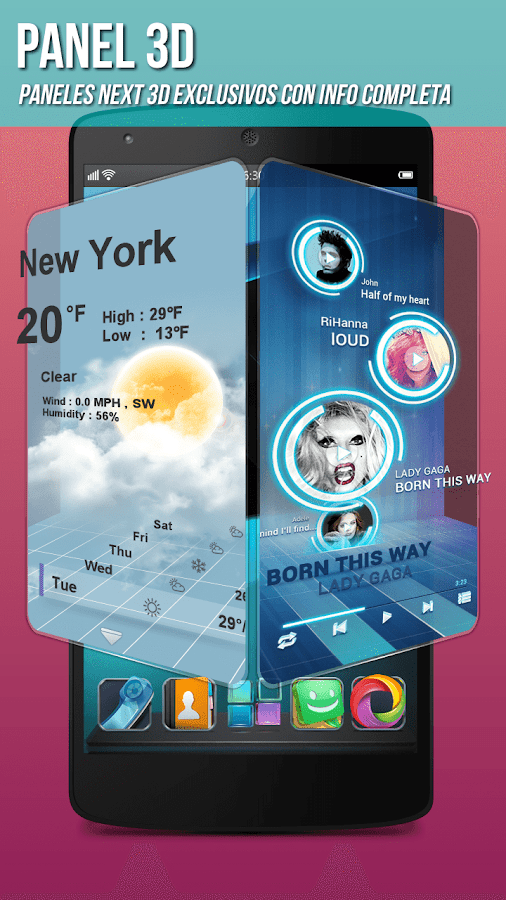 Next Launcher 3D: captura de pantalla
