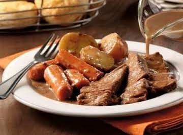 SAVORY POT ROAST & GRAVY