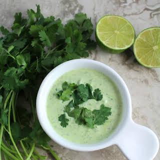 Healthy Cilantro Lime Sauce.