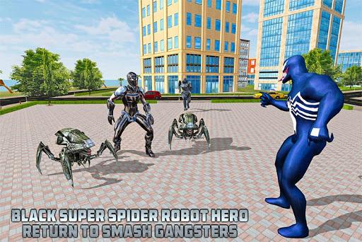black spider robot hero