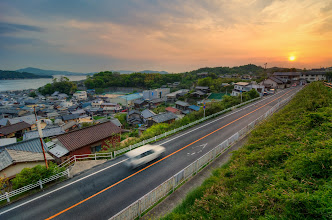 Photo: Shimotsui Sunset || 下津井の夕焼け  This last week my family got to spend some time in Okayama Prefecture. We lived here three years ago, so it was nice to visit some friends. Of course, I was excited to spend some time photographing this area which I came to love during our time there. This particular photo comes from the fishing village of Shimotsui; this town holds a very special place in my heart. You can read more about it at today's blog.  Blog post: http://lestaylorphoto.com/shimotsui-sunset/  #travel #japan #hdr