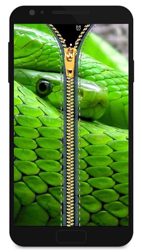 拉链锁屏 - 蛇