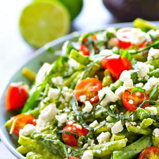 Green Bean Salad with Avocado Green Goddess Dressing.