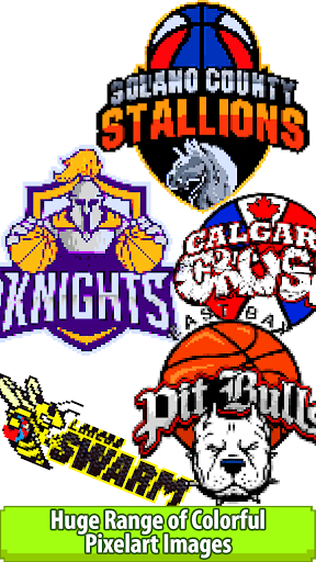 Download Basketball Logo Color by Number:Pixel Art Coloring 1.6 2