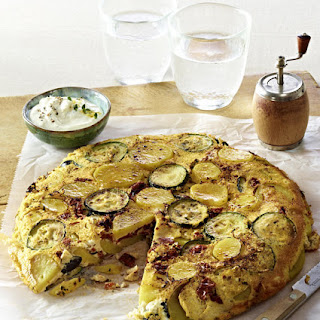 Spanish Tortilla with Goat Cheese Dip