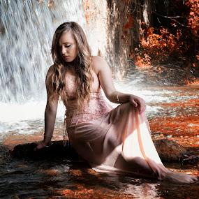 Veneris by Livio Siano - People Portraits of Women ( water, girl, beautiful, waterfall, summer, sun, river )