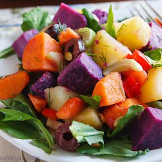 Nava Atlas' Three-Potato Salad with Arugula