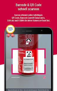 barcoo -  Barcode Scanner für QR-Codes & EAN-Codes Screenshot