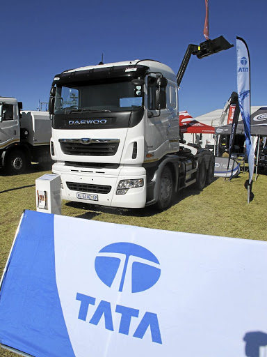 We were surprised to find a Daewoo truck on the Tata stand. Picture: MARK SMYTH