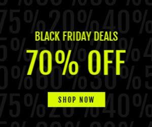 70% off Black Friday - Medium Rectangle Ad template