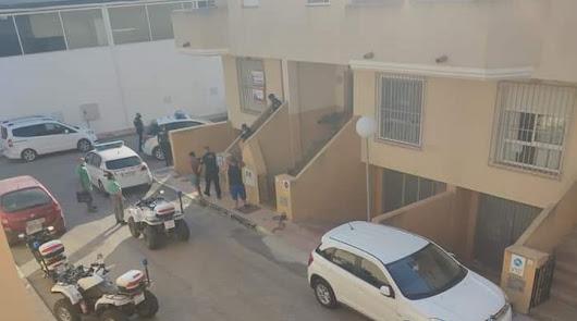 Imagen tomada tras el desalojo de la vivienda.