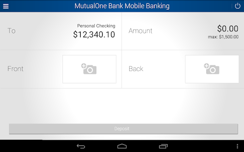 MutualOne Bank Mobile Banking- screenshot thumbnail