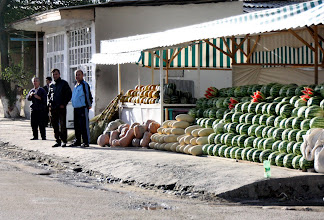 Photo: Day 166 - Melon Stall on the Way Out of  Samarqand