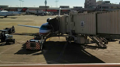 Photo: Day 0: This is the plane that we were taking from Atlanta airport to the Miami International Airport. It had 15 rows 3 seats wide. It was the smallest plane I have ever flown in.