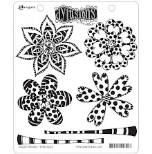 Dylusions Cling Stamps 8.5X7 - Doodle Blooms