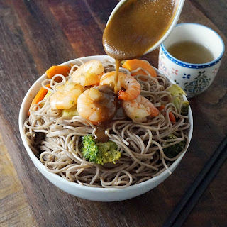 Shrimp and Vegetable Soba