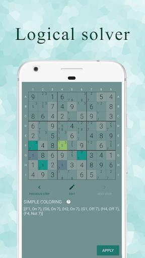 Ninja Sudoku - Logical solver, No ads while gaming 1.7.0 screenshots 5