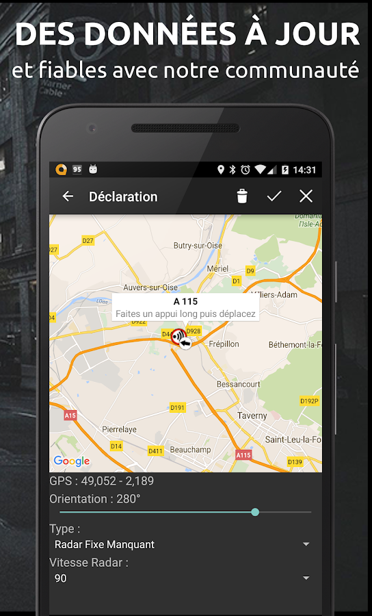 glob gps info trafic radar applications android sur google play. Black Bedroom Furniture Sets. Home Design Ideas