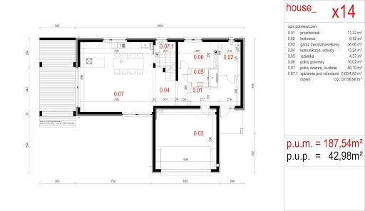 House X14 - Rzut parteru