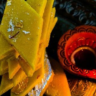 Vegan Kesar Badam Katri / Katli - Vegan Saffron Almond Thins / Diamonds #Diwalispecial #Diwalisweets