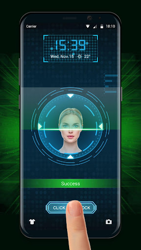 Face detection style lockscreen for prank 9.2.0.1832_master screenshots 3